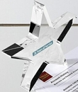 Custom Clear Star Paperweight - Acrylic (6