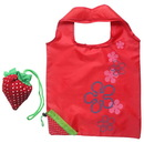 "Custom Strawberry Folding Shopping Tote Bag, 22 4/5"" L x 15"" W"