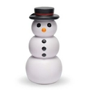 Custom Snowman w/ Top Hat Stress Reliever Squeeze Toy