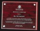 Custom Rosewood/Glass Rosewood Plaque w/ Glass - 9