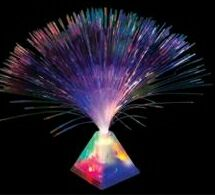 Flashing Blinky Lights Blank Fiber Optic Centerpiece With Pyramid Base, Price/piece