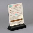 Custom Acrylic Countertop Sign Holder with Maple Base - 8.5w x 11h