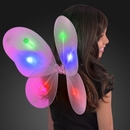 Blank Blinking Pink LED Fairy Wings, 14.5