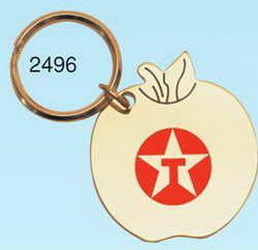 "Solid Brass Apple Key Chain (2""x1 3/4"") (Engraved), Price/piece"