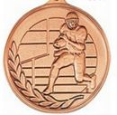 Custom 500 Series Stock Medal (Male Football Player) Gold, Silver, Bronze