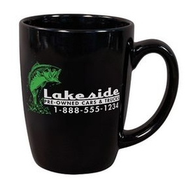 11 oz. Ceramic Challenger Mug, Screen Printed - Colors, Price/piece