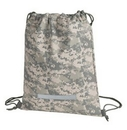 Custom Digital Camo Drawstring Backpack (12 1/2