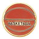 Blank Gold Enameled Pin (Basketball)