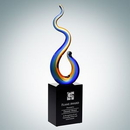 Custom Art Glass Flame Award, 12