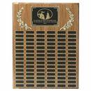 Custom Walnut Veneer Plaque w/90 Black Screened Plates (18
