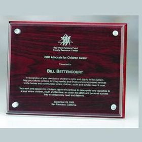 "Rosewood Plaque w/ Glass (Screened) 8""x6""x1"", Price/piece"