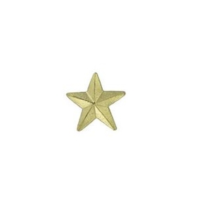 Small Star Chenille Letter Pin, Price/piece