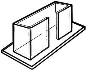 "Single Horizontal Counter Brochure Holders (5""x3""x1-1/2""), Price/piece"