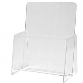 "Single Counter Brochure Holder (4-1/4""x9""x1-1/2""), Price/piece"