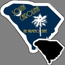 Custom South Carolina Stock Mini Magnet (0.019