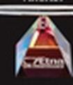 Custom Optical Crystal Clear Pyramid Spinning Pen Set