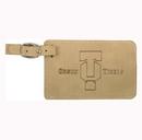 Custom Leatherette Luggage Tag - Light Brown, 4.25