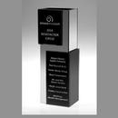 Custom Jade Glass Moonlight Vase, Mirror/ Black Mirror ( Screen Printed ), 11