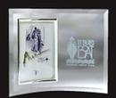 Custom Jade Glass Vertical Beveled Edge Picture Frame- 3-1/2