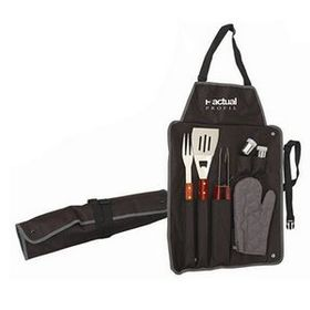 Polyester Bbq Apron Set (Black), Price/piece
