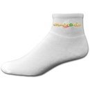 Custom Cotton Anklet Sock with Printed Applique