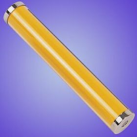 Yellow Acrylic Kaleidoscope w/ chrome plated ends (Screened), Price/piece