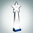 Custom Designer Collection Blue Star Goddess Optical Crystal Award - 10 7/8
