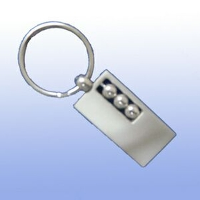 MDS 2 Tone Metal Massage Key Tag With 3 Stress Release Balls, Price/piece