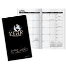 Custom Inspire World Work Monthly Pocket Planner, 3 5/8