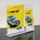 Custom Vertical Clear Acrylic Sign Holder W/Brochure Pocket