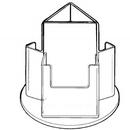 Custom 3 Pocket Rotating Holders with Slanted Back