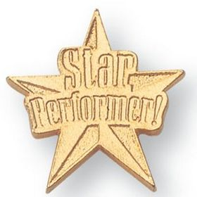Star Performer Chenille Letter Pin, Price/piece