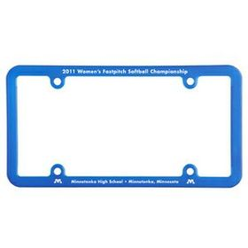 "Evans License Plate Frame (4 Hole, Universal), Screen Printed, 12 1/4"" W X 6 3/8"" W X 1/4"" D, Price/piece"