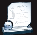 Custom Optical Crystal Hole In One Award