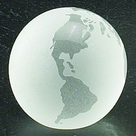 "3"" Crystal Globe Paperweight with Flat Bottom (Laser Engraved), Price/piece"