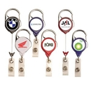 Custom Carabiner Retractable Badge Reel: (Label Only)