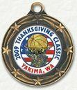 Custom Engravable Die Cast Medallion with 2