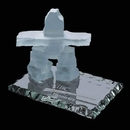Custom Frosted Inukshuk Sculpture on Jade Base (3 1/2