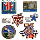 Custom Lapel Pin - Die Struck Brass Soft Enamel (1-1/4