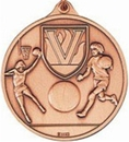 Custom 400 Series Stock Medal(Female Basketball Player) Gold, Silver, Bronze