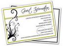 Custom Wedding Enclosure Card (5