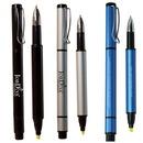 Custom Black Recycled Aluminum Pen and Highlighter