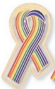 Custom Rainbow Pride Awareness Ribbon Bookmark