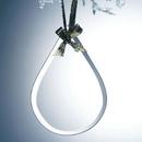 Custom Beveled Jade Glass Ornament - Tear Drop (Screened), 3.75