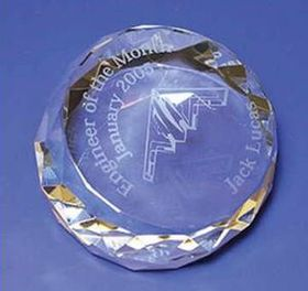 Round Crystal Paperweight (Screened), Price/piece