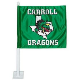 "LarLu 2 Ply Rectangle Car Flag, Full-Color Digital, 14"" L X 11 3/4"" W, Price/piece"