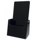 Custom Black Wall/ Counter Tri Fold Brochure Holder, 4 5/16