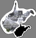 Custom West Virginia Stock Mini Magnet (0.019