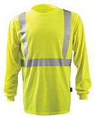 Custom High Visibility Premium Long Sleeve Wicking T-Shirt ANSI Class 2