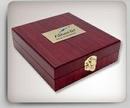 Custom Wooden Wine Bottle Case w/4-Piece Wine Service Set